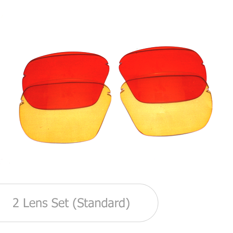 All American Shooting Glasses - 2 Lens Set -standard