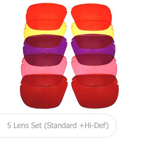 All American Shooting Glasses Lenses - 5 Lens Set