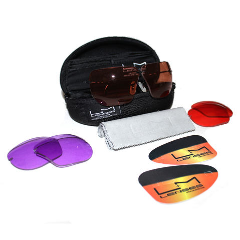 Jr. All American Shooting Glasses 3 Lens Set
